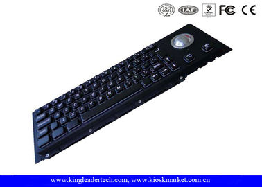 Cherry Key Swithc Kiosk Black Metal Keyboard With Trackball In Good Tactile